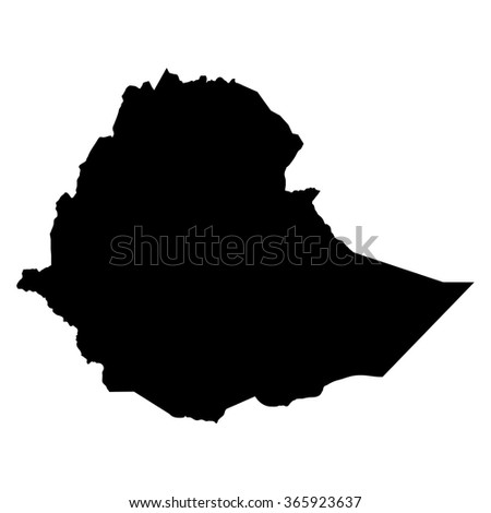 Ethiopia map on white background vector - stock vector