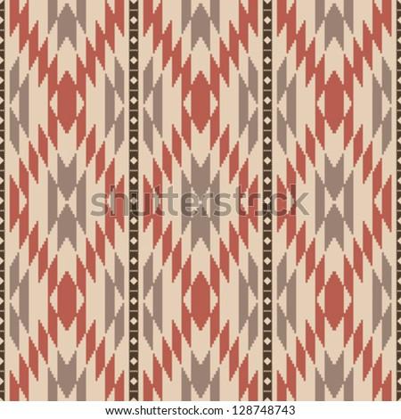 Ethnic american navajo inspired rug seamless pattern - stock vector
