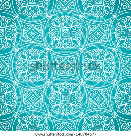 Ethnic decorative pattern. Bright lacy seamless ornament. - stock vector