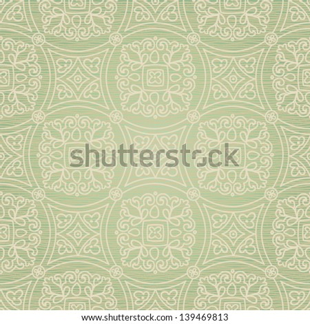Ethnic decorative pattern. Lacy seamless ornament in retro style. - stock vector