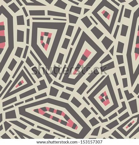 Ethnic geometric ornament; vector seamless background.  - stock vector