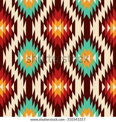 Ethnic ornament. Seamless Navajo pattern. Vector Illustration - stock vector