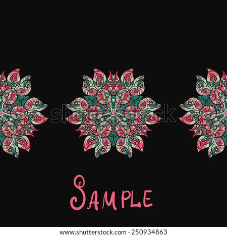 Ethnic paisley ornament Abstract background with mandala element. - stock vector