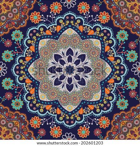Ethnic seamless pattern - stock vector