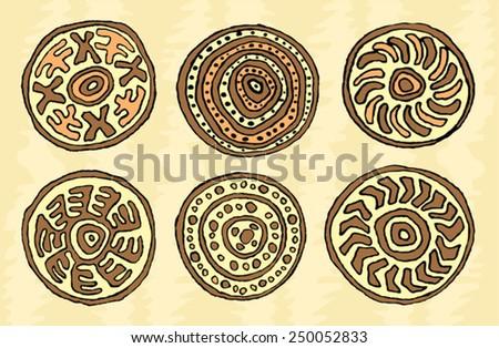 ethnic tribal native ornament   - stock vector