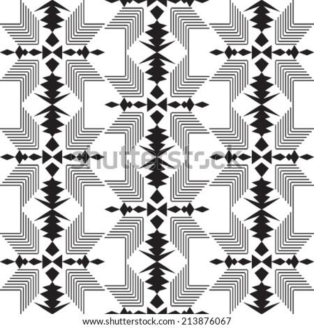 ethnic vector pattern background - stock vector