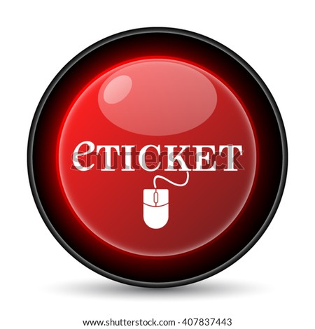 Eticket icon. Internet button on white background. EPS10 vector - stock vector