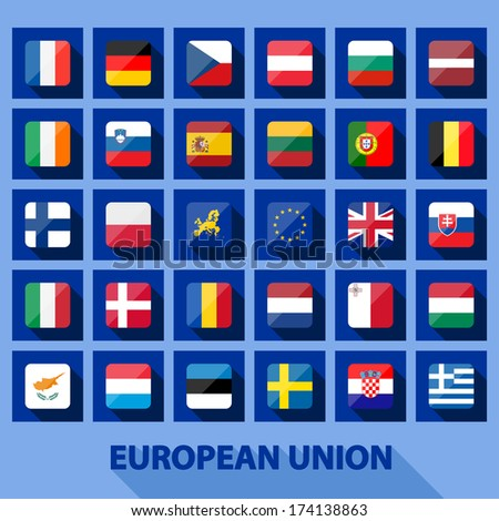 EU icons - stock vector