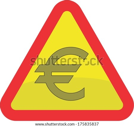 EURO, danger of collapse - stock vector