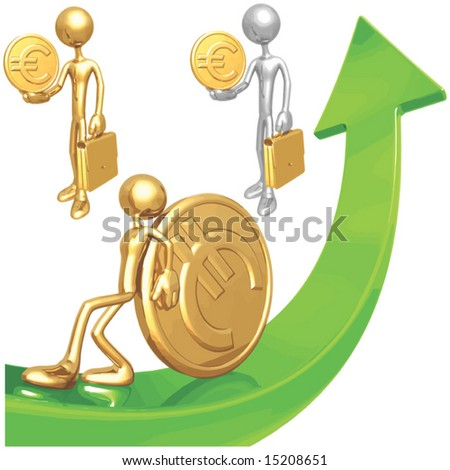 Euro Market arrow - stock vector