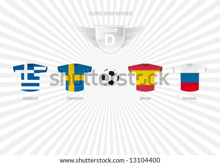 EURO 2008 Series - Group D - stock vector