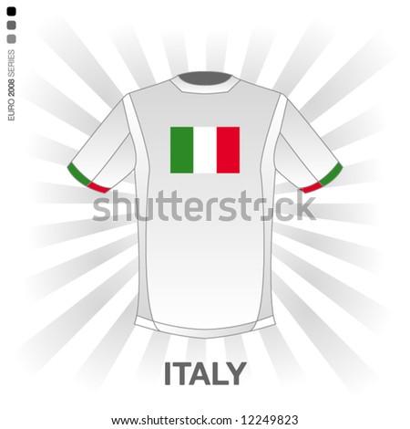 EURO 2008 SERIES - ITALY - stock vector