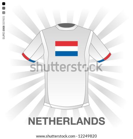 EURO 2008 SERIES - NETHERLANDS - stock vector