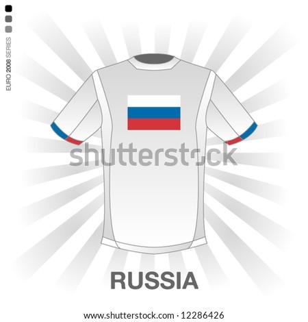 EURO 2008 SERIES - RUSSIA - stock vector