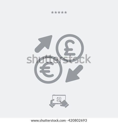 Euro/Sterling - Foreign currency exchange icon  - stock vector