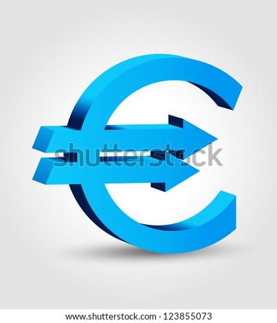 Euro symbol 2 - stock vector