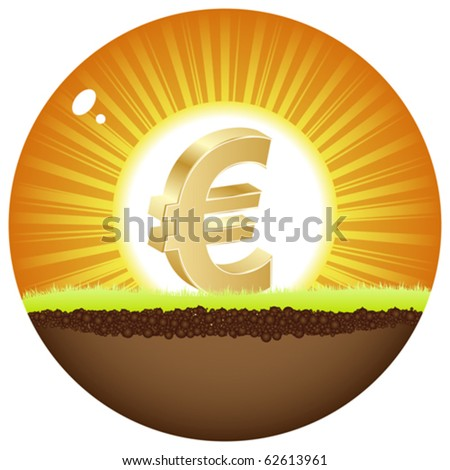 euro view in sunshine - stock vector