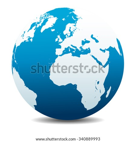 Europe and Africa, Global World - stock vector