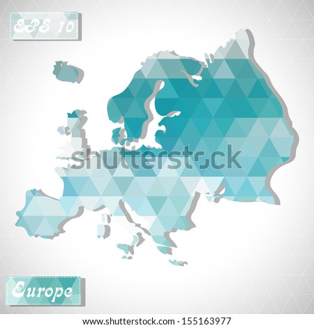 Europe. EPS10 file version. This illustration contains transparency and is layered for easy manipulation and custom coloring. - stock vector