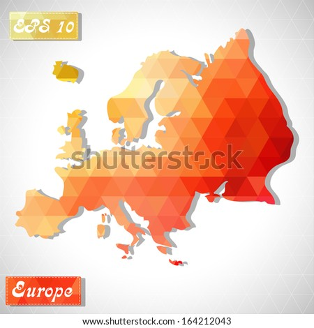 Europe . EPS10 file version. This illustration contains transparency and is layered for easy manipulation and custom coloring. - stock vector