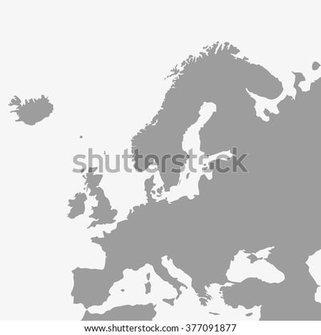 Europe map. Europe map gray. Europe map vector. Europe map illustration. Europe map blank. Europe map stock. Europe map eps. Europe map app. Europe map jpeg. Europe map territory. Europe map countries - stock vector