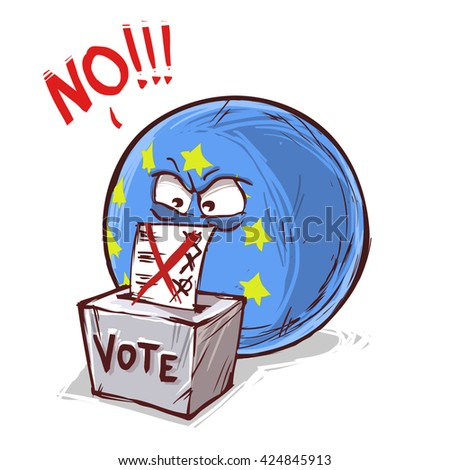 Europe voting NO - stock vector