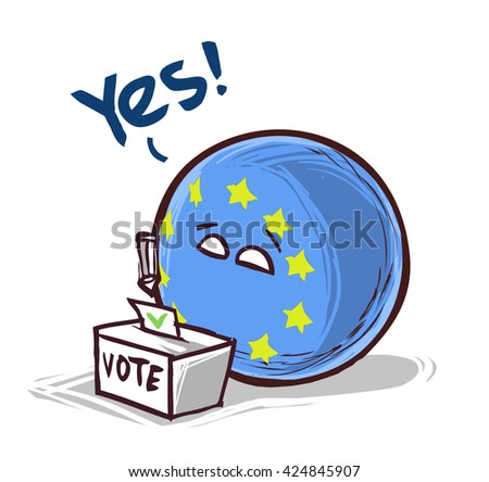 Europe voting YES - stock vector