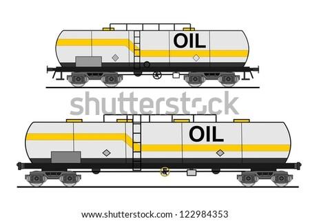 European and american style cistern car - stock vector
