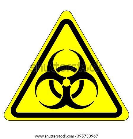 European bio hazard warning symbol , bio hazard warning sign isolated , vector illustration - stock vector