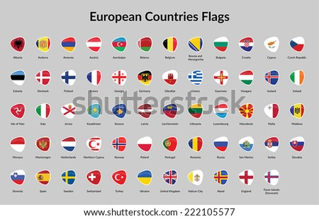 European Countries Flag - stock vector