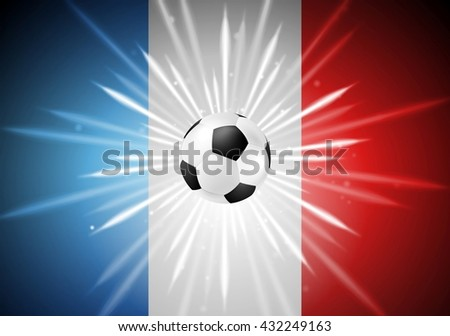 European Football Championship in France bright background. Vector Euro sport design - stock vector