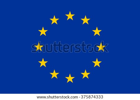 European Union flag , EU flag , official colors and proportion , vector illustration - stock vector