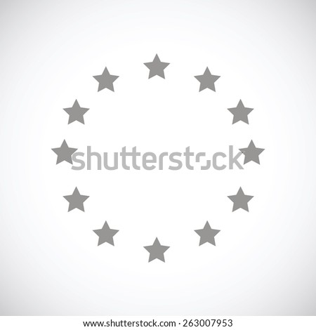 European Union web black icon on a white background. Vector symbol - stock vector