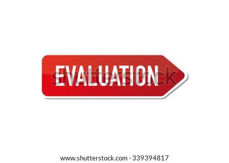 Evaluation signboard - stock vector