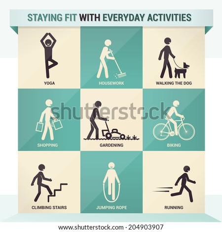 Everyday exercise - stock vector