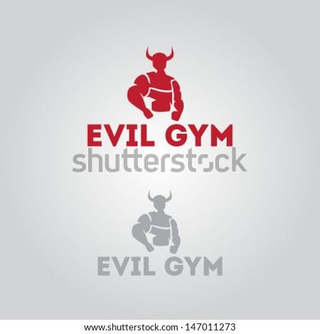 Evil Icon for Gym Illustration Vector - stock vector