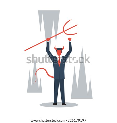 Evil manager - stock vector