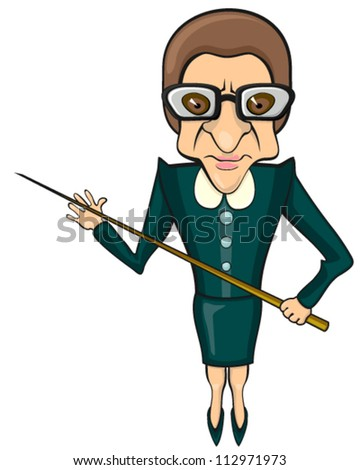 Evil teacher - stock vector