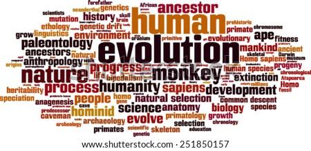 Evolution word cloud concept. Vector illustration - stock vector