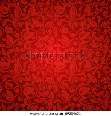 excellent antique wallpaper, seamless - stock vector
