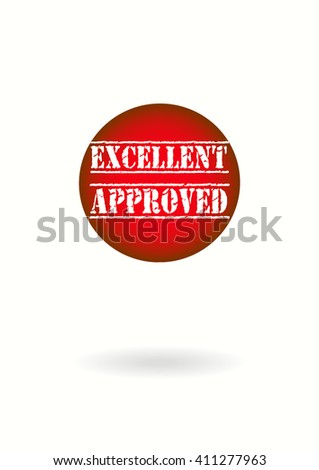 Excellent Approved vector - stock vector