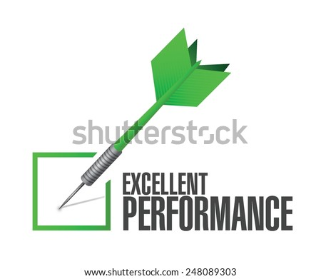 excellent performance check dart illustration design over a white background - stock vector