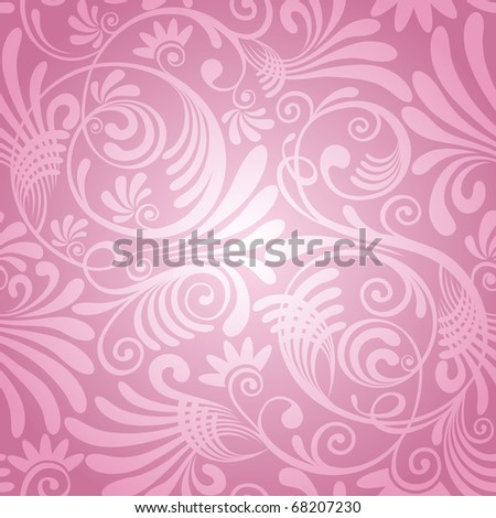 excellent seamless floral background - stock vector