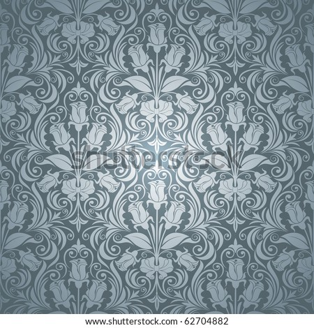 excellent seamless floral background with roses - stock vector