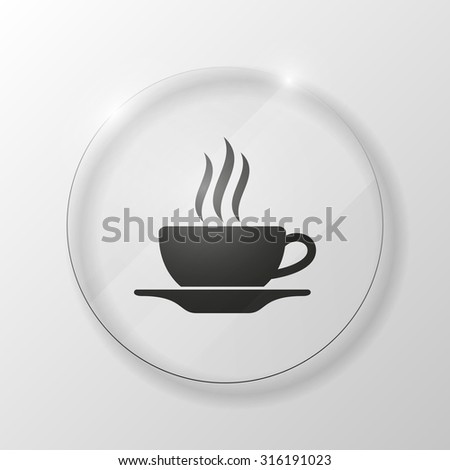 excellent set of colorful pointers to determine location.  Cup (mug) of hot drink (coffee, tea etc) - stock vector