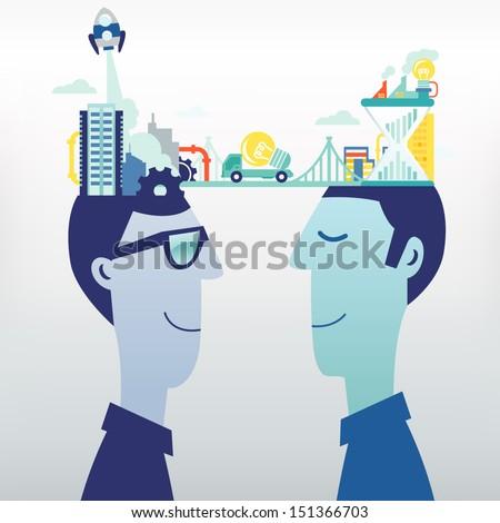 Exchange/Business ideas - stock vector
