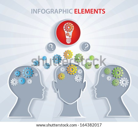 Exchange knowledge, creative idea - Illustration. - stock vector