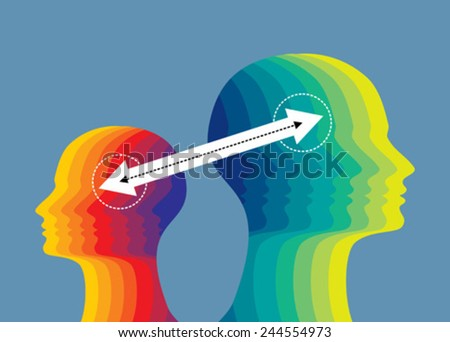 exchanging idea concept - stock vector