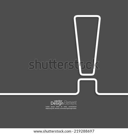 Exclamation mark icon. Attention sign icon. Hazard warning symbol  in dark background. vector - stock vector