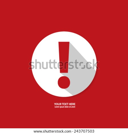 Exclamation Mark Icon Background - stock vector